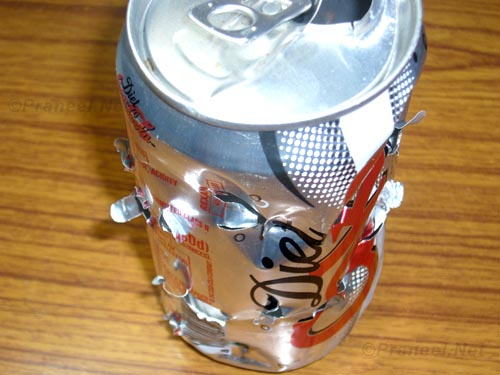 Coke Can with Air Rifle Shots